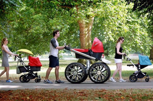 Giant 'man-pram' created for dads who want stylish wheels