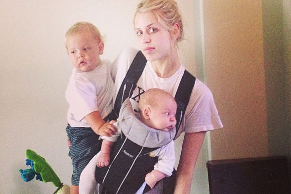 A little help, please! Peaches Geldof juggles bumper babies Astala and Phaedra