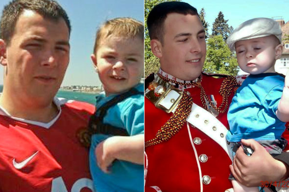 Pictures: Unseen photos show Lee Rigby with son Jack