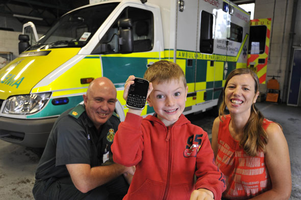 Boy, 5, saves collapsed mum's life