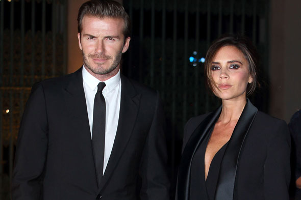 David Beckham shows off new 'Victoria' tattoo