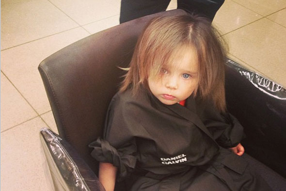 Una Healy's toddler Aoife Belle gets a Daniel Galvin hair-do!