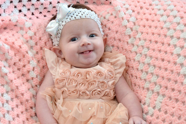 Nine-week-old Ella is Britian's youngest beauty queen