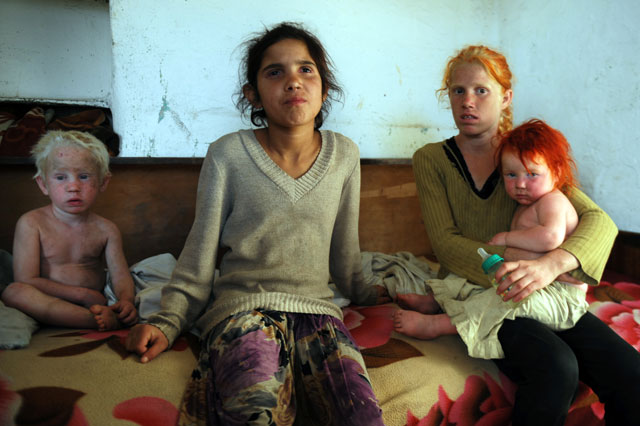 Are these 'kidnapped' Maria's siblings? Police quiz Bulgarian parents of albino children