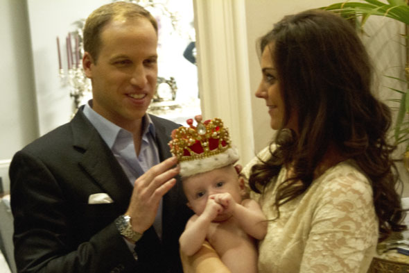 Pictures: Prince George at home with Kate and Wills