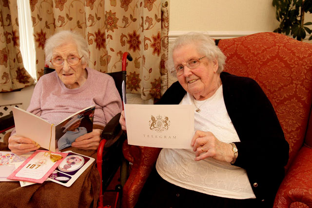 A toast to Britain's oldest sisters - trio with combined age of 314