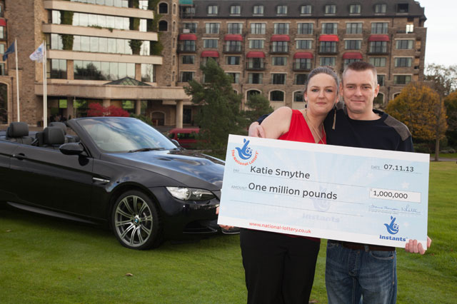 Mum almost threw £1 million lottery scratchcard in the bin