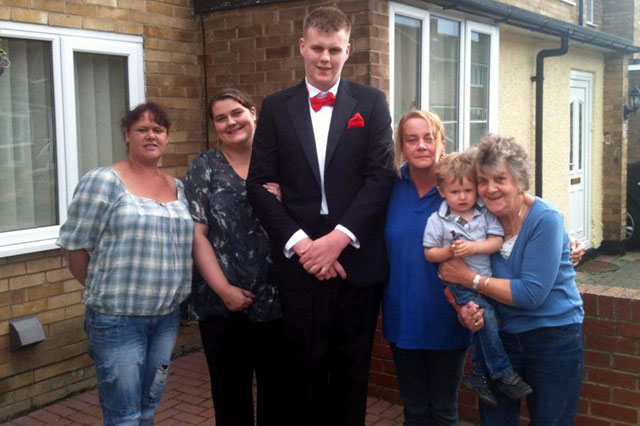 Rare condition means 6ft 10in teenager might never stop growing
