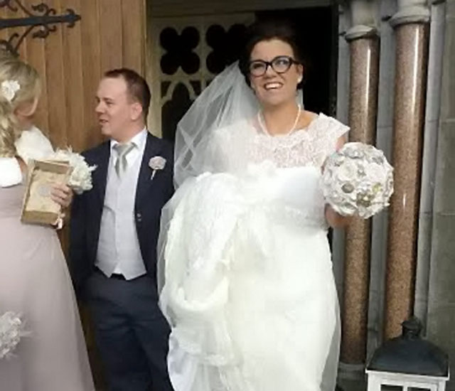 Wheelchair-bound mum walks down the aisle after becoming a bodybuilder