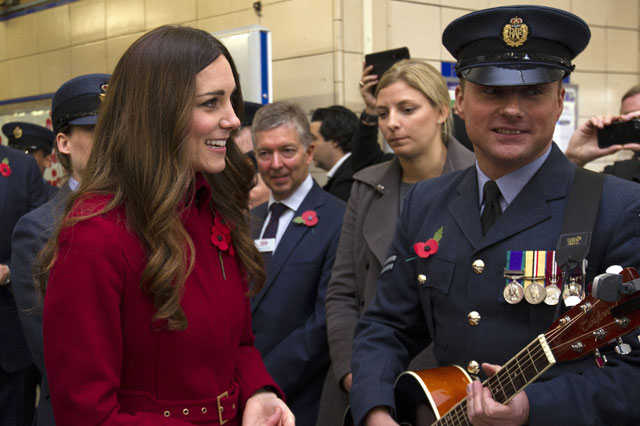 The Windsors meet Windsor: Kate and Wills leave George at home as they travel on a London Bus