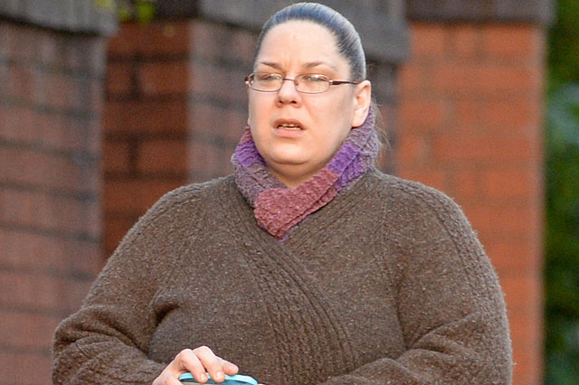 Carefree Tracey Connelly strolls around park after release from jail