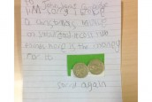 Spirit of Christmas: Five-year-old Faith's sweet letter saying sorry for breaking John Lewis bauble