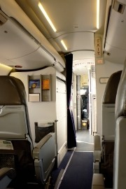 An airplane interior