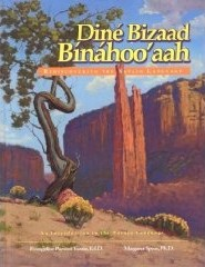 Cover of the Navajo language textbook, Dine Bizaad Binahoo'ahh, or Rediscovering the Navajo Language