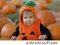 child pumpkin patch