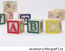 A collection of alphabet blocks