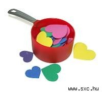 measuring cup with hearts