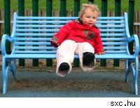 child on bench