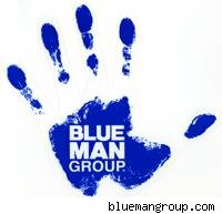 blue man group handprint