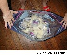 bags of breastmilk