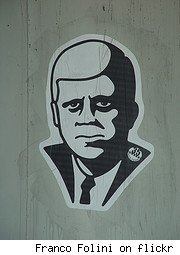 John F. Kennedy graffiti