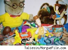 An assortment of toys