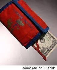 Bleeding wallet