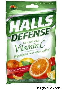 halls defense cough drops
