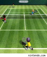 wii tennis screen shot