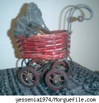 A toy baby carriage