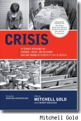 The front cover of CRISIS: 40 Stories Revealing the Personal, Social, and Religious Pain and Trauma of Growing Up Gay In America