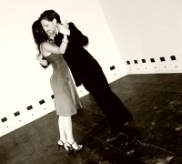A couple dancing the tango