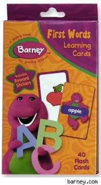 Barney flash cards