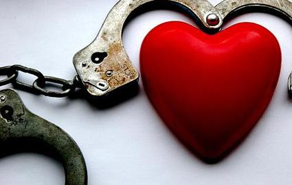 handcuffs and heart