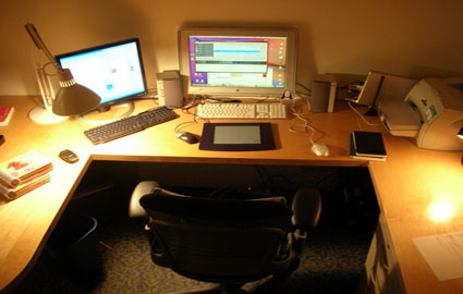 desk in office