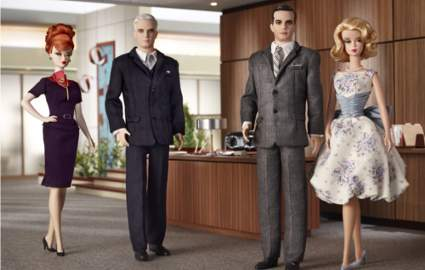 'Mad Men' Barbie will not have cigarettes or a Martini. Credit: Mattel, Inc.