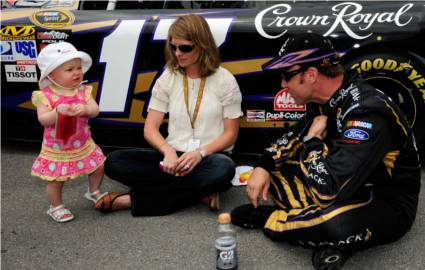 NASCAR star Matt Kenseth and his family. Credit: Getty Images