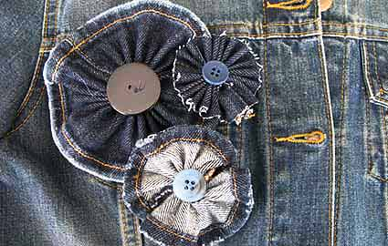 Dress up those jean hand me downs