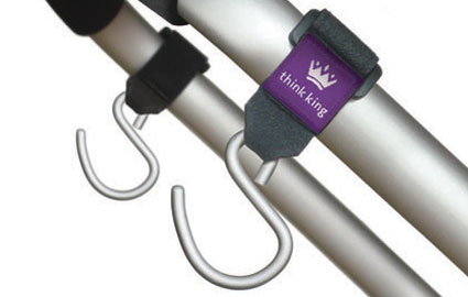 Stroller hooks for safety by Think King