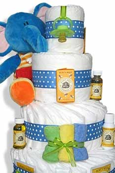 Baby diaper cake