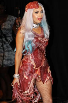 Lady Gaga meat dress outfit