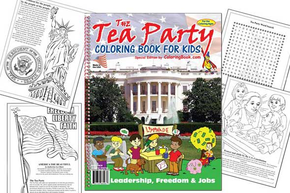 tea party coloring book picture