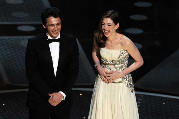 James Franco and Anne Hathaway at Oscars