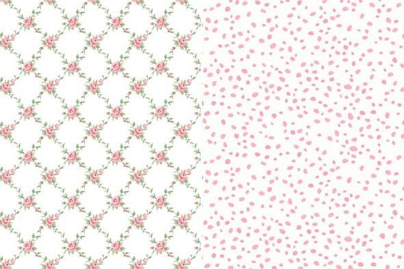wallpaper patterns kids rooms pink floral
