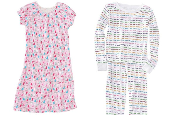 Company Kids heart and love pajamas make great Valentine's Day gifts.