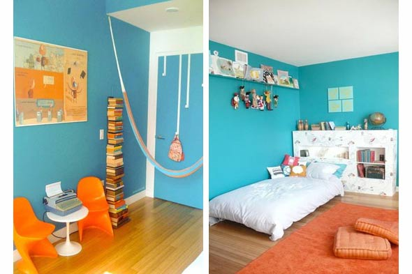 Children's room blue paint color