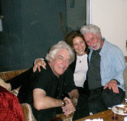 Susan Stiffelman with her former husband David, left, and an old boyfriend Peter, right