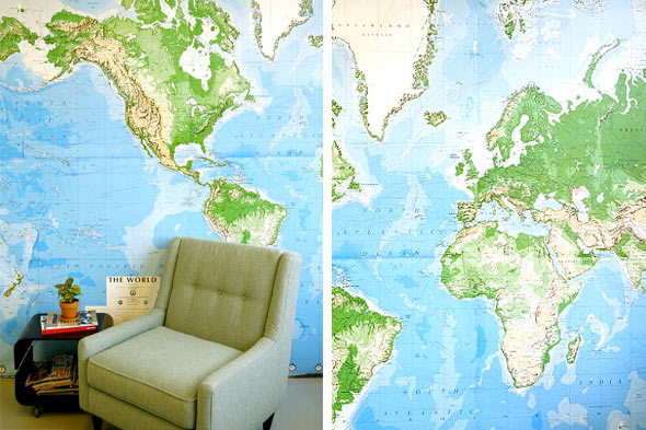 wallpaper patterns world map wall mural kids rooms