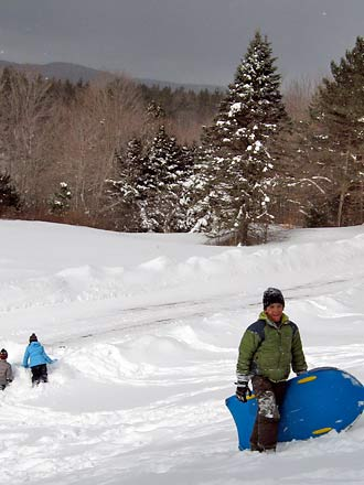 sledding picture gary drevitch