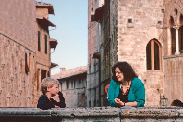 mother son florence italy picture